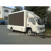 Factory Supply Foton 4*2 mobile stage truck for sale,led truck